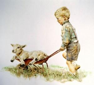 Jongen met lam