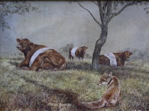 Jonge vos temidden van Lakenvelders