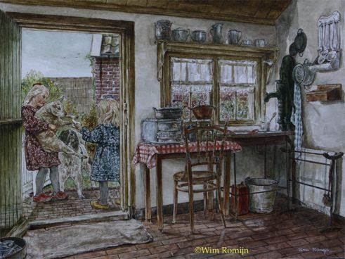 Op de keukenstoep