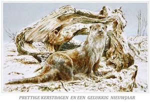 Kerstkaart Otter
