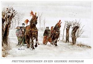 Kerstkaart Competitie Friese paarden