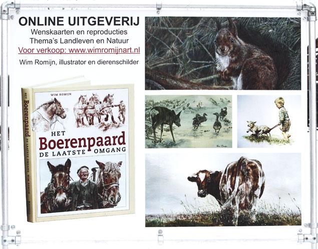 Reclamebord Wim Romijn Art Uitgeverij